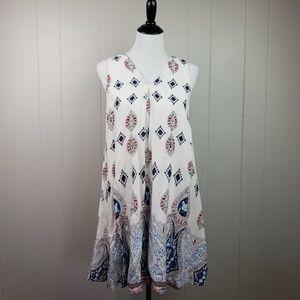 Love Riche Tank Lined Boho Dress Size Medium